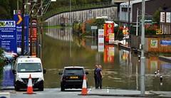 Carmarthen Storm Callum (howell.davies) Tags: storm callum flood flooded flooding carmarthen wales uk nikon d3200 55300mm people signs water wet cars motors vehicles candid