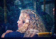 City Bus (Cheryl Atkins) Tags: city urban window fujix color bus street