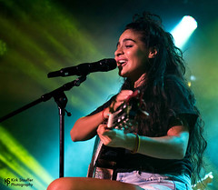 Jessie Reyez @ Crocodile Café (Kirk Stauffer) Tags: kirk stauffer photographer nikon d5 adorable amazing attractive awesome beautiful beauty charming cute darling fabulous feminine glamour glamorous goddess gorgeous lovable lovely perfect petite precious pretty siren stunning sweet wonderful young female girl lady woman women live music tour concert show stage gig singer vocals performer musician band lights lighting indie pop rock long brown hair brunette curly eyes white teeth red lips model tall fashion style portrait photo smile smiling canadian playing acoutic guitar
