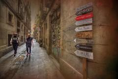 """... """"Escribí todos los días cuando tenía entre 12 y 20 años, cuando paré, fué porque fui a Barcelona, donde la vida era demasiado emocionante para escribir """" ...Colm Toibin... (franma65) Tags: barcelona born ciudadvieja ciutatvella street callejuela"""