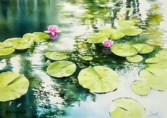 Watercolor Painting By Abe Toshiyuki (katalaynet) Tags: follow happy me fun photooftheday beautiful love friends