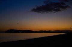 sunset (giuse.calli) Tags: sunset poetto sky color orange blu sea shadow clouds selladeldiavolo cagliari sardegna