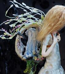 Tamyka's Home (stashraider) Tags: ooak art doll sculpture dina thatcreativefeeling etsy hand made snail girl gardens waterfalls trees buterflies birds fish nature