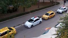 Fleet of taxis, Niš, Serbia. (FromKG) Tags: taxis toyota chr prius vw passat golf vii hybrid yellow white b8 niš serbia