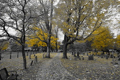 cemetery path (bndocksaints_kenny) Tags: cemetery graveyard ma october gravestone hingham photography