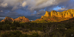 Sedona Panorama 2 (lycheng99) Tags: sedona arizona arizonapassages mountains rocks rockformation redrock sunset light clouds nature landscape panorama panoramicview travel redrockscenichighway scenic highway