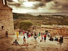 Athens (denismartin) Tags: denismartin architecture greece pericles acropolis temple greek athenes athens europe vintage cloud people propylaia