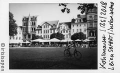 Das Fahrrad # 026 # Leica SOFORT Fuji instax MONOCHROME - 2018 (íṛíṡíṡôṗĕñ ◎◉◎) Tags: leica sofort film instant analog schwarzweiss bw instax monochrome irisisopen