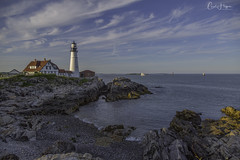 Portland Head Light (Carol Huffman) Tags: lighthouse portland me maine portlandheadlight water rockssunlight