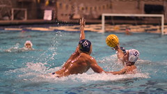 Noah Carniglia Blocks the Shot (Chris Hunkeler) Tags: noahcarniglia hunterbarnett waterpolo action pool men mens ucsd triton tritons californiabaptist calbaptist cbu lancers