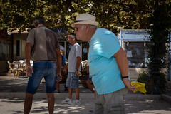 Boules like determination (paul indigo) Tags: france frenchriviera jeudeboules paulindigo pétanque boules debate discussion game people players streetphotography team travel