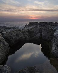 L' Abbraccio (nicolamarongiu) Tags: landscape paesaggio rocce cielo msre sea sunset rock tramonto nuvole bagno piscinanaturale colori sardegna acqua riflessi reflections ombre caldofreddo ispraneddas santantioco italy sardinia