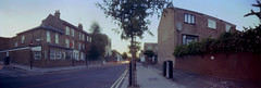 dusk in clapton (nuszka) Tags: suitcase reali pinhole wide e5process colourprocessing colourdarkroom