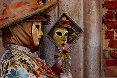 Lady with mirror (thiery74) Tags: venice carnival costume mask people portrait