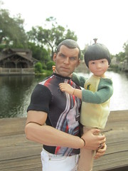 David Gives a Lift (larry_boy17) Tags: hottoys hot toys actionfigure action figures figure toy outside outdoor outdoors nature vacation trip getaway perseus boy boys male man 16scale 16 scale disney world disneyworld florida fl magic kingdom magickingdom dad son asian
