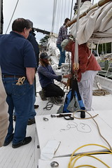 Intro to Rigging Workshop at CBMM (Chesapeake Bay Maritime Museum Photos) Tags: ship rigging sailing rigger chesapeakebaymaritimemuseum cbmm rosie parks