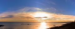 Morning Light Panorama (oconnellto) Tags: sunrise dublinireland ballbriggan skerries seapanorama morninglight canon500d canonphotography panorama seascape irishseascape