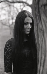 Viki (serkoh) Tags: portrait people fashion bw blackandwhite analog film fomapan400 canoneos300 canonef50mmf18ii