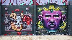 Ler & Dake25  / Bruxelles - 26 oct 2018 (Ferdinand 'Ferre' Feys) Tags: bxl brussels bruxelles brussel belgium belgique belgië streetart artdelarue graffitiart graffiti graff urbanart urbanarte arteurbano ferdinandfeys bestof2018be