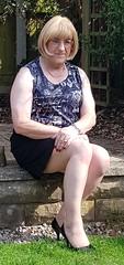 Garden 1 (Tina Bea) Tags: cd crossdress crossdresser crossdressing enfemme highheels heels skirt tg tgirl tgurl transvestite lingerie mature dress tv