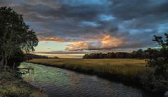 Great Marsh Preserve Sunset (stevebfotos) Tags: sunset greatmarsh canarycreek lewes delaware sky sun clouds