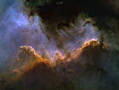 Cygnus Great Wall - Testshot (manuel.huss) Tags: space stars narrowband deep sky astronomy astrophotography telescope achromat cygnus greatwall ngc7000