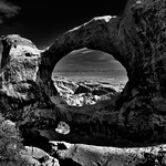 I See an Arch and I See All Around (Black & White, Arches National Park) thumbnail