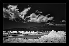 Salt pans of Fuencaliente, Isla de La Palma, Canary Islands (Bartonio) Tags: 720nm bw blanconegro canaryislands clouds faro fuencaliente infrared ir islascanarias lapalma landscape lighthouse modified monochrome nationalpark naturaleza nature nikkor1224mm4 nubes paisaje parquenacional salinas saltpans sonya7ir