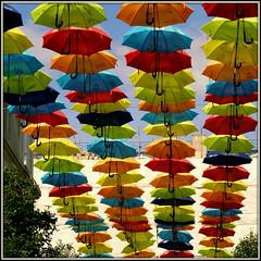 Liverpool umbrellas (* RICHARD M (7.5 MILLION VIEWS)) Tags: churchalley liverpool merseyside umbrellainstalation street artwork publicart brollies umbrellas gamps impressions abstract bluecoatchambers churchstreet overhead