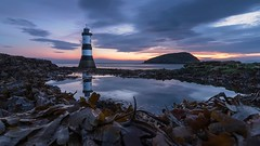 Penmon Lighthouse, Anglesey (alexcalver) Tags: wales uk bluehour sunrise lowtide rockpool reflection northwales anglesey penmon penmonlighthouse