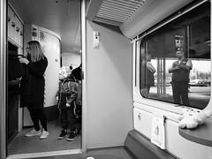(Olavi Horsma) Tags: publictransportation train bw candid