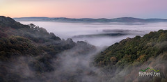 Happy Valley (http://www.richardfoxphotography.com) Tags: river teign dartmoor mist misty fog foggy inversion panorama trees sky outdoors