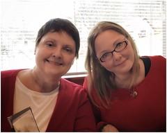 Donna & Amanda   Helen, Georgia   January 19, 2017 (steveartist) Tags: mothers daughters women southernwomen eyeglasses smiles 2017 portraits twosubjectportraits iphonese snapseed stevefrenkel filters