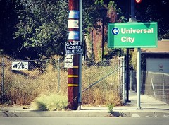 Faded Bernie Sanders Posters (Chris Yarzab) Tags: universalcity cash4homes noparking powerpole wqke