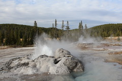 Minuteman Geyser Eruption (orng.juce) Tags: minutemangeyser eruption shoshonegeyserbasin yellowstonenationalpark nationalgeographic geothermal backpacking backcountry leavenotrace