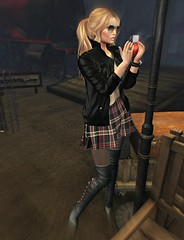Teacher´s Pet (Slightly FASHIONABLE) Tags: sl secondlife virtualfashion tartan skirt apple hogwarts leatherjacket gizseorn harperskirt ghee boots cosmpolitanevent chicchica swallow truth hair