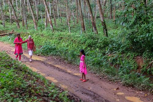 Claudine va quelque part. Kerala, India, 2018