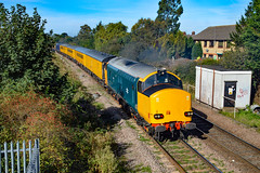 37610 + 37612 - March - 15/09/18. (TRphotography04) Tags: hn rail on hire colas br small logo 37610 37612 pass march west junction working 1q86 1014 down rs burton ot wetmore sidings