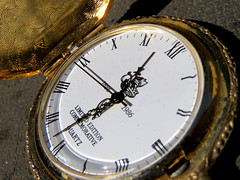 Let's see what the time is. (vickilw) Tags: time pocketwatch dial face hands 7dos macro monday 6ws
