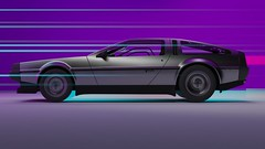 Wallpaper DeLorean (Vector Design) Tags: cinema4d cinema c4d concept colors 3d 3dart effects delorean