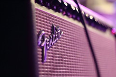 Music is the Answer (Orange Attitude) Tags: canon eos 1300d 50mm music abstract new violet concert concerto italia italy piedmont live rock guitar light pink fender