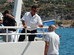 'Poor fishing...' (a conversation at the rear of the ferry 'Kuşadası Express', Pythagorio, Samos, Greece) (Steve Hobson) Tags: ferry kuşadası express pythagorio samos greece