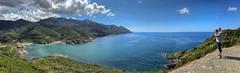 L'intrus (Pop626262 (Fort occupé)) Tags: freedom corse mer ciel nuage bleu montagne vert paysage ombre photographe iphone panorama