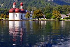 St. Bartholomä (poljacek (+ 2M visits, Thanks so much!)) Tags: germany königsee stbartholomä reflejo reflection riffleso odbicie