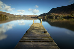 Ullswater Jetty (RichySum77) Tags: ullswater lake water reflection autumn uk lakes cumbria jetty trees canon eos 80d le nature landscape mountain hills serene boat