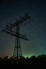 Power Tower (ReppiX) Tags: night tower power stars sterne nacht turm hochspannung mast nightshoot nachtaufnahme rwe energie nachtfotografie
