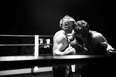 36974 - Face off (Diego Rosato) Tags: boxe boxing pugilato boxelatina ring match incontro rawtherapee nikon d700 2470mm tamron pugno punch bianconero blackwhite face off