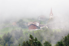 fog (Cornelia Pithart) Tags: bressanone brixen altoadige church copyspac copyspace day fog house italy mist nopeople outdoors southtyrol village