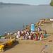 Les ghats de Maheshwar sur le fleuve Narmada (Inde)