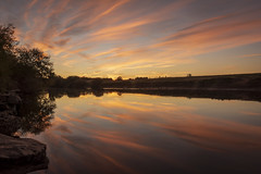 Firey (cliveg004) Tags: riversevern river sunset sky reflections reflection clouds rocks trees colour worcestershire kempsey evening landscape waterscape nikon d5200